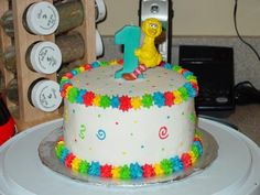 Sesame Street Smash Cake. wanna make this for braxton's first birthday