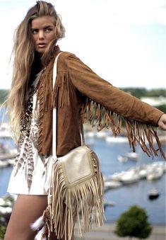 ☮ American Hippie Bohéme Boho Style ☮ Fringe