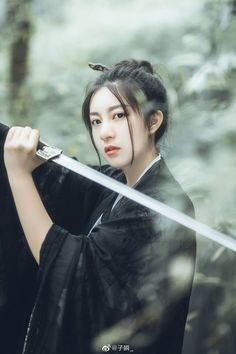 Female Samurai, Japan Outfit, Human Poses, Warrior Girl, China Girl, Hanfu, Pose Reference, Costumes For Women, Pretty Girls