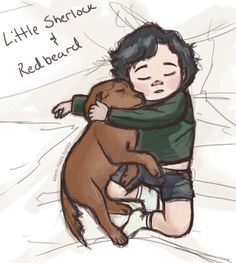 """Little Sherlock and Redbeard""  AAAAWWW"