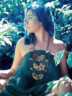 Atlantis Garden Steampunk Tribal Fusion Necklace