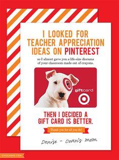 FREE teacher appreciation cards