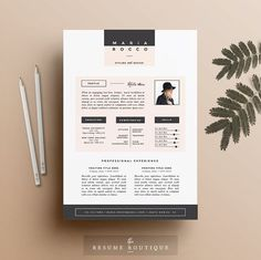 Resume / CV Template Cover Letter for by TheResumeBoutique Cover Letter Template, Cv Template, Letter Templates, Resume Templates, Cover Letters, Business Templates, Portfolio Design, Portfolio Web, Portfolio Layout