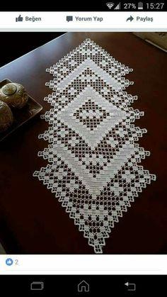 Crochet Table Runner Pattern, Crochet Doily Patterns, Crochet Motif, Crochet Doilies, Crochet Home, Filet Crochet, Free Pattern, Gallery, Lace