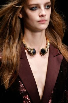Gold necklace Roberto Cavalli fall/winter 2015