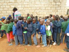 Orphans line up to wash their hands before meal time at Chainda Centre, Lusaka Orphan, Lineup, Charity, Centre, Meal, Hands, Children, Young Children, Food