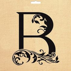 Alphabet Letter B Initial Print Flower Swirl by FunnySkyCreations, Stencil Lettering, Lettering Styles, Stencil Diy, Letter Wall Decor, Name Wall Art, Letter Art, Fancy Letter B, Large Wooden Letters, Alphabet Wallpaper