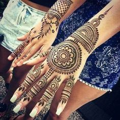 Online shopping for Hennas - Styling from a great selection at Beauty Store. Indian Henna Designs, Mehndi Designs For Girls, Henna Designs Easy, Beautiful Henna Designs, Bridal Mehndi Designs, Henna Tattoo Designs, Bridal Henna, Henna Tattoos, Mehandi Designs