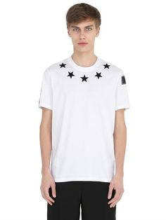 GIVENCHY Cuban Star Patches Jersey T-Shirt, White. #givenchy #cloth #t-shirts