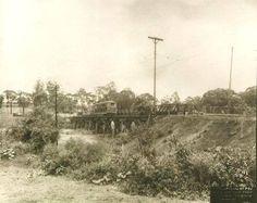 1921 - Ponte do Anastácio, sobre o rio Tietê.