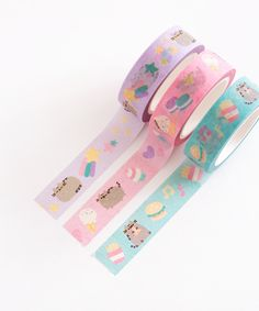 Pusheen Printed Tape Trio – Pusheen Shop - Want To Get Started In Arts And Crafts? These Tips Can Help! Pusheen Love, Pusheen Shop, Pusheen Cat, Pusheen Stuff, Stationary School, Cute Stationary, Stationary Design, Japanese Stationery, Kawaii Stationery