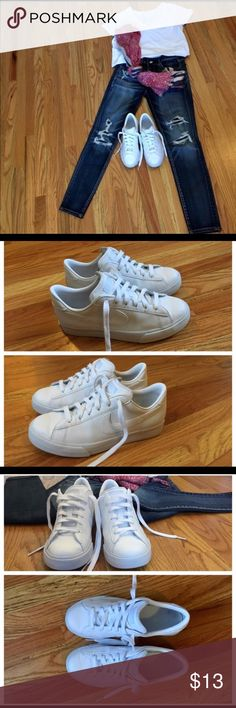 Nike Sweet Classic Low (6Y or Women's 7.5) 👌😍 This is a unisex shoe. Leather. Excellent VERY gently used Condition. Smoke Free, Pet Free Home!  The inside tag says EUR 38.5, however that is a women's size 8.5.  I wear a women's size 7.5, and this shoe is a perfect fit!!! Nike Shoes Sneakers