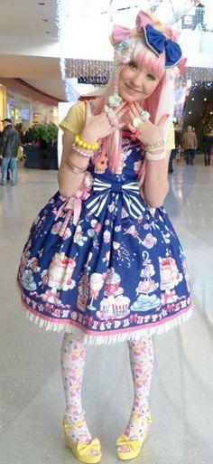 CupCake Sweet Lolita♥ ロリータ, Sweet Lolita, Lolita, Loli, Pastel, Decora,Victorian, Rococo ♥