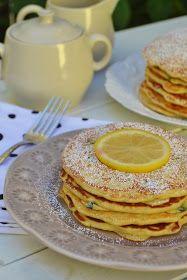 Arco-íris na Cozinha: Panquecas de Limão e Mirtilos Brunch, Pancakes, Cooking, Breakfast, Lemon Pancakes, Sweet Pastries, Breakfast Ideas, Rainbows, Cuisine