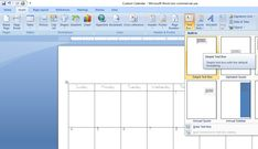 How to Create a Custom Calendar in Word - Calyx & Corolla Custom Calendar, Diy Calendar, Organizing Paperwork, Organization, Create A Calendar, Time Management, Layout, Chart, Words