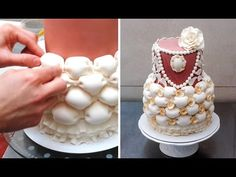 Billowing and ruffles cake by CakesStepbyStep - YouTube