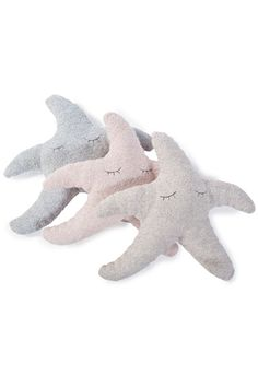 Barefoot Dreams Starfish CozyChic Stone Tooth Fairy Pillow