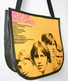 Bee Gees Record Handbag Purse Bag by retrograndma on Etsy, $42.99