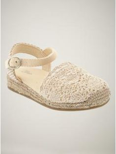 crocheted espadrilles  off white  23.96