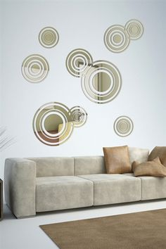 Wall Decals Reflective Scattered Bubbles- WALLTAT.com Art Without Boundaries