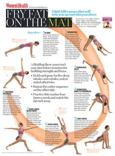 Fry fat on the mat | Eight killer poses that will tone you up and slim you down.