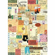 Cavallini Paris Ephemera Wrapping Paper
