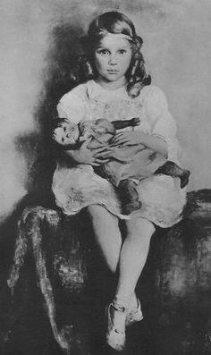 Timeline - Tasha Tudor and Family 1920-A portrait of Tasha by her mother, Rosamond Tudor