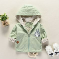 Promo Offer Spring Autumn boy Girl Baby& Clothing Outfit Casual Hooded Jacket outerwear for boys girls baby clothes Loose thin coat jackets Kids Outfits Girls, Baby Boy Outfits, Hooded Sweater, Hooded Jacket, Girl And Cat, Baby Girl Jackets, Baby Coat, Girl Sleeves, Baby Boy Fashion