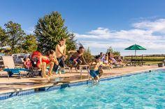 Sunbury, Ohio Camping Recreation | Sunbury / Columbus North KOA Holiday Sunbury Ohio, Best Rv Parks, Camping In Ohio, Slip N Slide, Rv Sites, Fish Ponds, Canoe And Kayak, Covered Bridges, Zoo Animals