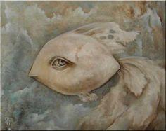 "PAULINA GORA ""Melancholy fish""  2012 Oil on canvas  40x50cm"