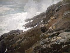 High Cliff, Coast of Maine 1894 Winslow Homer Smithsonian American Art Museum Gift of William T. Winslow Homer Paintings, Seascape Art, Oil Painting Reproductions, Poster Size Prints, Fine Art Prints, Coast, Cliff, Oil Paintings, Ocean Paintings
