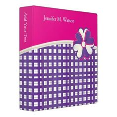 Personalize Popular Pink, White and Purple Weave Binder http://www.zazzle.com/personalize_popular_pink_white_and_purple_weave_binder-127257354280031544?rf=238756979555966366&tc=PtMPrssJDbinder                                       Personalize Popular Pink, White and Purple Weave Binder      $20.95   by  DesignsbyDonnaSiggy