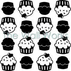 Kitchenaid Cupcakes vinyl decal