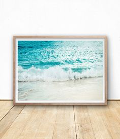 Ocean stampa - onda arte stampa, stampa digitale, Printable parete arte, Surf Beach, Sea Wall Art, Beach Decor, casa della spiaggia, Costiera fotografia