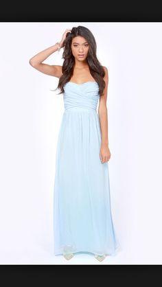 Icey blue maxi dress