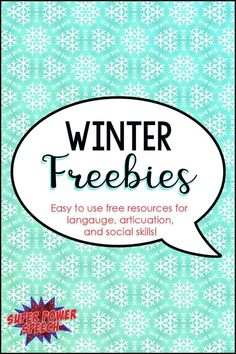 A round-up of freebies for language, articulation and social skills. Must see!