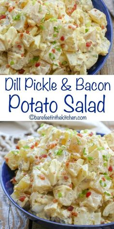 You're going to love this Dill Pickle and Bacon Potato Salad - get the recipe at. Salad Recipes You're going to love this Dill Pickle and Bacon Potato Salad - get the recipe at. Potato Dishes, Potato Recipes, Food Dishes, Side Dishes, Bacon Dishes, Chicken Salad Recipes, Healthy Salad Recipes, Salad Chicken, Grilled Vegetable Recipes