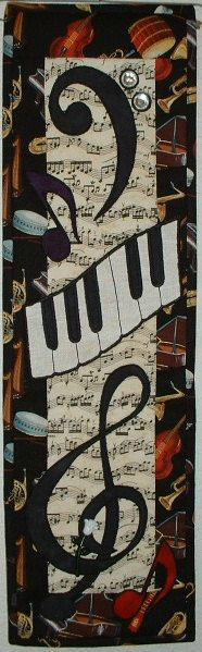 Music Music  - Quilted Wall Hanging Pattern Download