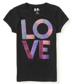 Kids' Glitter Love Graphic T - PS From Aeropostale