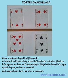 Tanulásmódszertan :: OkosKaLand Playing Cards, Games, Montessori, Math Resources, Playing Card Games, Gaming, Game Cards, Plays, Game