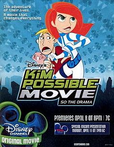 """'Kim Possible Movie: So The Drama' (also known as 'Kim Possible 2: So the Drama') is the second feature-length film based on the 'Kim Possible' TV show, preceded by 'A Sitch in Time' in 2003. This film includes a mix of hand-drawn animation and computer animation.The film premiered April 8, 2005 on Disney Channel, advertised as the first animated [DCOM]. This film was aired before the last few episodes of the series' third season. The film was originally intended to be..."""