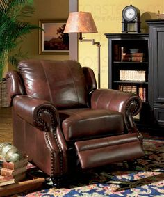 C500663 Princeton Tri-Tone Leather Recliner 100% REPLACEMENT WARRANTY | New $1499 Sale $1102.50 Friends Discounted Price $826.88