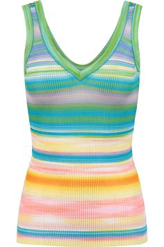 MISSONI Striped crochet-knit tank. #missoni #cloth #tank