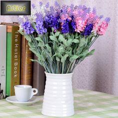 Provence lavanda buquê de 4 seleção de cor artificial flores de seda atacado AI0476 em Flores & coroas decorativas de Casa & jardim no AliExpress.com   Alibaba Group