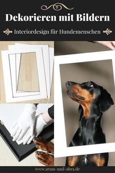 Bilder, Tierportraits, Zeichnungen und Hundefotos richtig einrahmen - eine Schritt für Schritt Anleitung. Von: Aram und Abra | Interior | Design | Fotografie | Hunde | Kunst