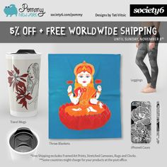 $5 OFF on Pommy New York Products + FREE WORLDWIDE SHIPPING until Sunday, November 8. Use Promo Link: https://society6.com/pommy/travel-mugs?promo=4B3PHCJXPPRJ