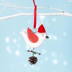 Robin Christmas decoration 10cm x 14cm approximately PRICE: £11.50  www.chantaldevenport.co.uk