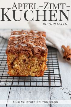 Apfel-Zimt-Kuchen mit Streuseln Simple and delicious: apple-cinnamon cake with crumble – an autumn and winter cake with apple and cinnamon. The recipe for the simple box cake feedmeupbeforeyou … / Apple cinnamon streusel cake recipe Cake Cinnamon Streusel Cake, Apple Cinnamon Cake, Cinnamon Apples, Cinnamon Recipe, Cinnamon Muffins, Apple Bread, Cinnamon Bread, Baked Apples, Sprinkles Recipe