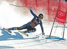 U.S. ski team member, Marco Sullivan charges through a turn during the third day of downhill training for the Birds of Prey World Cup ski races Thursday in Beaver Creek, Colo.