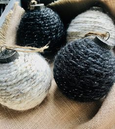 christmas ornaments farmhouse ornament handmade wool yarn or Wool Yarn Ornament Christmas Ornaments Ornaments Handmade Ornaments Farmhouse Ornaments Yarn OYou can find Diy christmas ornaments and more on our website Handmade Ornaments, Diy Christmas Ornaments, Homemade Christmas, Christmas Crafts, Diy Yarn Ornaments, Christmas Ideas, Etsy Christmas, Ornament Crafts, Christmas Wrapping